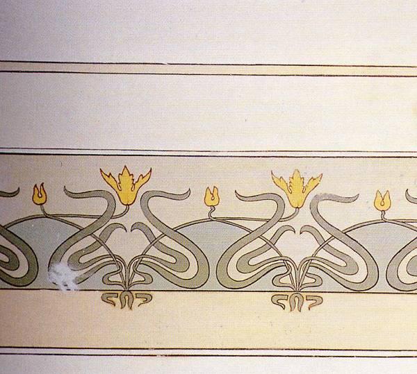 Il liberty a licata italia liberty - Decorazioni floreali per pareti ...